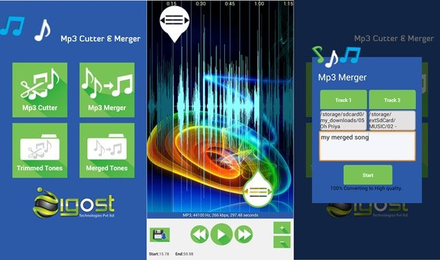 Cut and Merg MP3 on Android